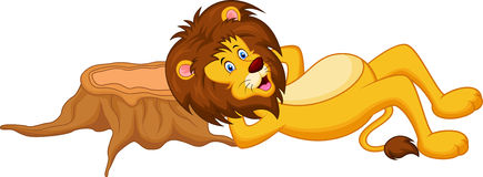 Lion cartoon sleeping Royalty Free Stock Photo