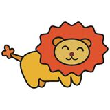 Lion in cartoon style royalty free illustration