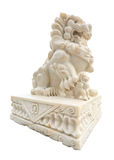 Lion carved marble Stock Photos