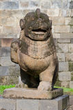 Lion carved stone at Borobudur Royalty Free Stock Images