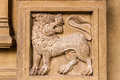 Lion Carving Photo libre de droits