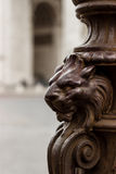 Lion carvings Stock Images