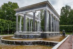 Lion Cascade, Peterhof, Russia Royalty Free Stock Photo