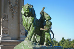 Lion and child Royalty Free Stock Photography