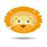 A lion. children s illustration Stock Photography