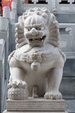 Lion china. Statue in temple royalty free stock photography