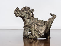 Lion chinese style made of bronze (Qilin Kylin or Kirin) Stock Images