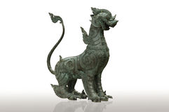 Lion chinese style (Qilin Kylin or Kirin)  on white back Royalty Free Stock Image