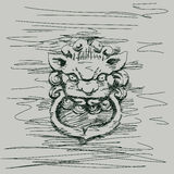Lion Chinese style Stock Photos