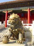 Lion chinois Photographie stock