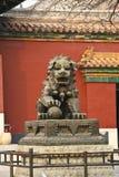 Lion chinois de gardien Images libres de droits