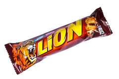 Lion Chocolate Bar Royalty Free Stock Images