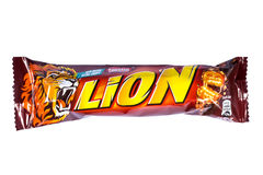 Lion Chocolate Bar Royalty Free Stock Photography
