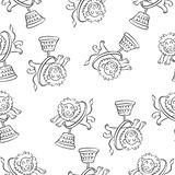 Lion circus hand draw pattern style. Vector art Royalty Free Stock Image