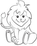 Lion coloring page Stock Photo