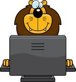 Lion Computer Stock Photo
