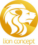 Lion concept circle design Stock Photography