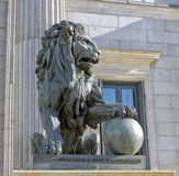 Lion of the Congreso de los diputados Royalty Free Stock Photo