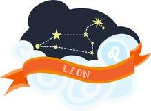 Lion Constellation Lizenzfreie Stockfotografie