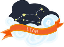 Lion Constellation Royalty Free Stock Photography