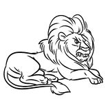Lion contour Royalty Free Stock Images