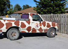 Lion Country Safari Vehicle. With giraffe pattern and logo Stock Images