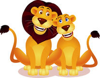 Lion couple Royalty Free Stock Image