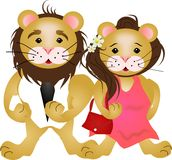 Lion couple Royalty Free Stock Photography