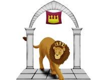lion couronné Photos stock