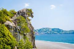 Lion Crag Shishi-AIT en Kumano, Japón imagenes de archivo