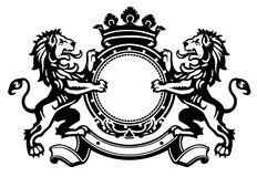 Free Lion Crest 1 Royalty Free Stock Image - 24850136