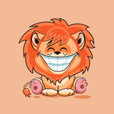 Lion cub with huge smile Stock Image