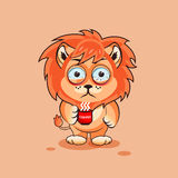 Lion cub nervous Stock Images