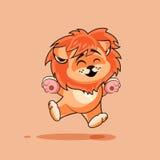 Lion cub rejoices Stock Photos