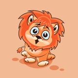 Lion cub surprised Royalty Free Stock Images