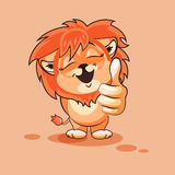 Lion cub thumb up Royalty Free Stock Images