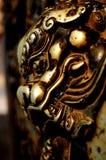 Lion cuivreux chinois Photographie stock