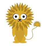 Lion Cute Animal Cartoon Character sauvage pour des enfants photos stock
