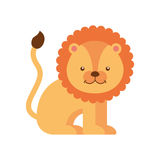 Lion cute animal icon. Vector illustration design vector illustration