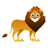 Lion cute cartoon character Royalty Free Stock Images