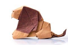 Lion d'origami sur le fond blanc photographie stock libre de droits