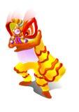 Lion dance Stock Image
