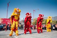 Lion Dance Foto de archivo libre de regalías