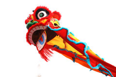 Lion dance. Colorful lion dance costume.Foshan,Guangdong,China Stock Photography