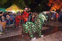 Lion Dance Stockfotos