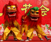 Lion Dance Immagine Stock