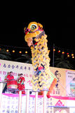 Lion dance with china drum Stock Photography