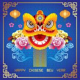 Happy Chinese New Year Greeting Card. Vector Illustration for Chinese New Year banner. stock illustration