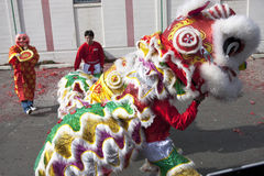 Lion dance close up. Stock Photo
