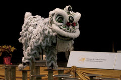 Lion dance competition Stock Images